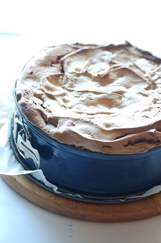 Maggie Beer's fabulous Fig and Walnut Tart (meringue). This recipe is a crowd pleaser - the hardest part is chopping the dried figs and walnuts! I top it with slightly sweetened whipped cream and very thin slices of fresh lime as Maggie suggests -  sublime!