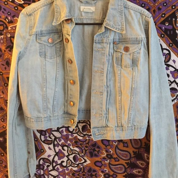 Light blue jean jacket ! Worn a couple of times, but still in great condition to wear Forever 21 Jackets & Coats