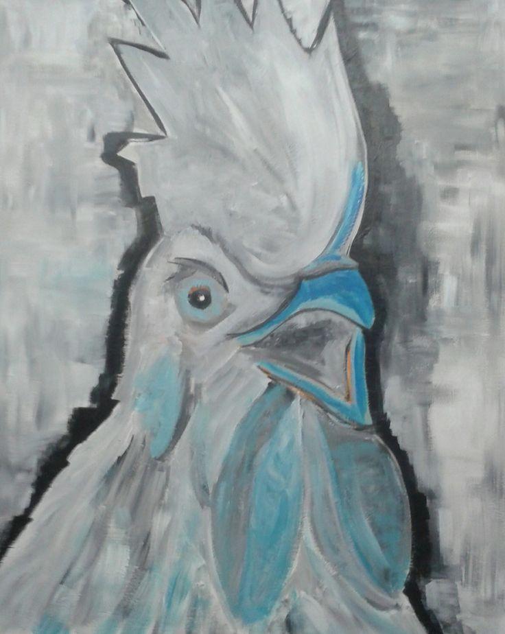 blauwe haan