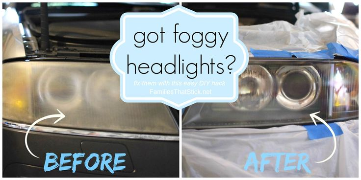 Do your headlights look like they need a good washing even after a carwash? Foggy Headlights DIY Hack is an easy and foolproof path to sparkly headlights!