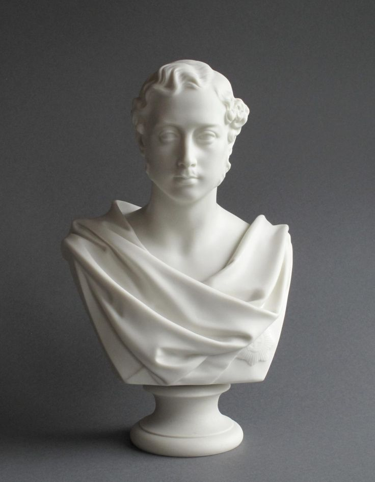 A good Parian bust of Albert Edward, Prince of Wales (1841 to 1910), later King Edward VII, marked for the Ceramic and Crystal Palace Art Union from the 1863 original by Marshall Wood. There is no manufacturer's mark but it is probably by Copeland. It is likely that the original of this bust was made to commemorate the marriage of the Prince and Princess of Wales in 1863.
