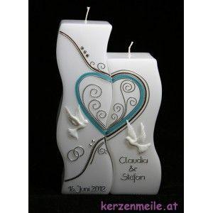 Hochzeitskerze Swing Dove