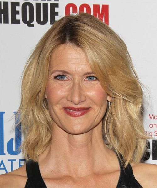 199 best mid length straight hairstyles images on pinterest laura dern medium straight casual hairstyle golden urmus Choice Image