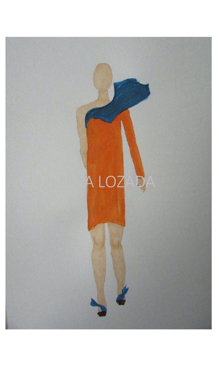 Ilustración de moda   alta costura   Carolina Lozada