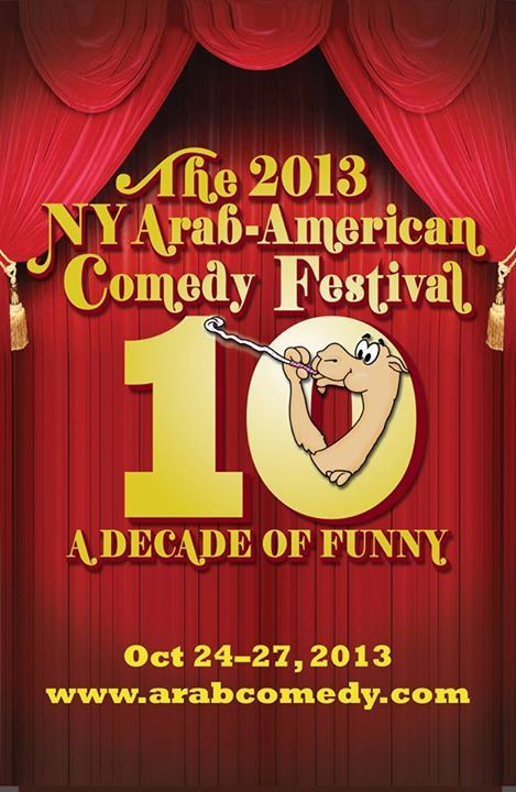 Logo for 10th annual NY Arab-American Comedy Fest - Oct 24-27 in NYC  Tix: www.arabcomedy.com