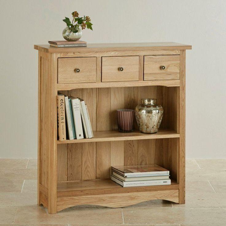 Cairo Natural Solid Oak Small Display Unit by Oak Furniture Land #OakFurniture