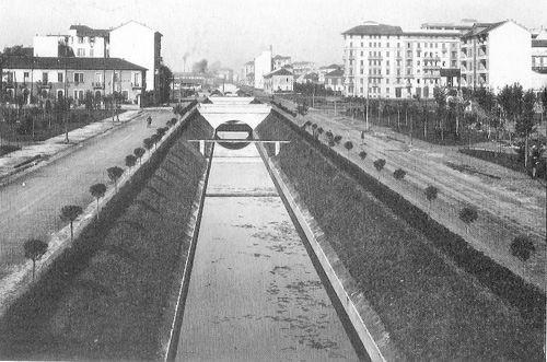il fiume olona tra piazza bolivar e piazza napoli
