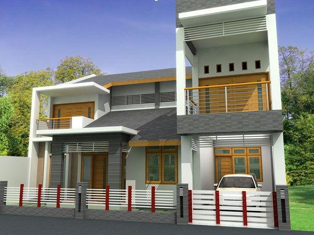 Rumah Minimalis 2 Lantai Type 120 Desain Eksterior Rumah Eksterior Rumah Modern Rumah Modern