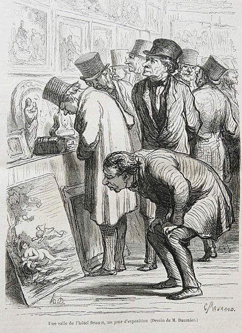 Honore Daumier fransk grafiker. (1808-1879) Gjorde många karikatyrer, ofta samhällskritiska.