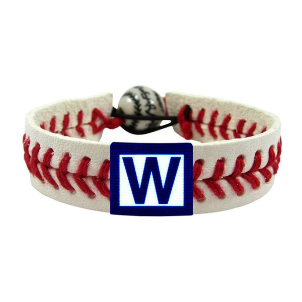 Chicago Cubs 'W' Win Flag Classic Baseball Bracelet#ChicagoCubs#Cubs#FlyTheW#MLB#ThatsCub