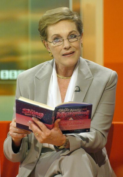Actor Dame Julie Andrews best known for her role in Mary Poppins appearing on the BBC programme Breakfast