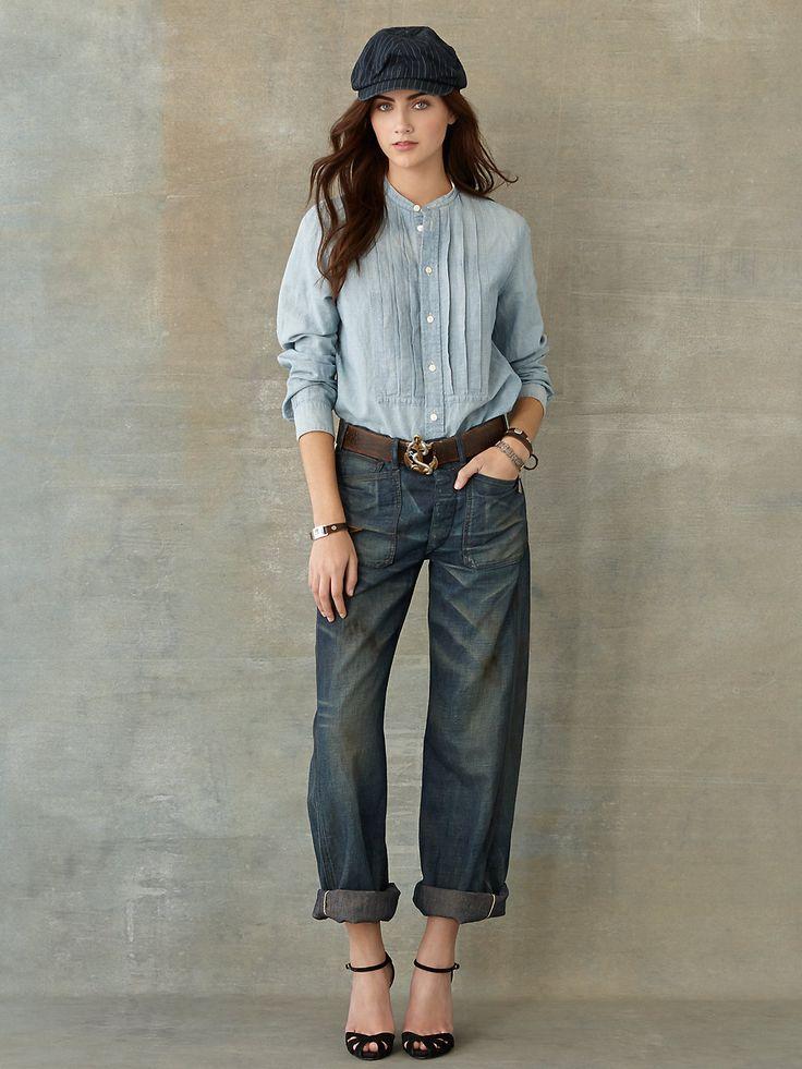 Ralph Lauren RRL - Double RL Chambray Jade Shirt