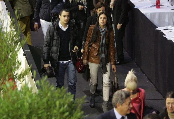 Charlotte Casiraghi and her boyfriend Alexander Dellal arrive at the Gucci Masters held at the Palais des Expositions in Villepinte