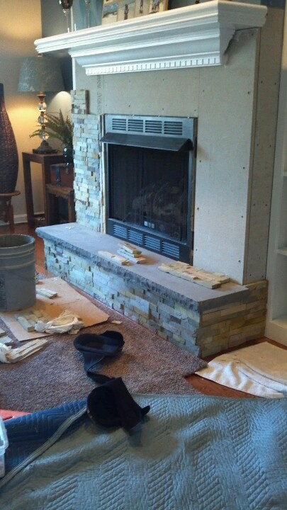 stacked stone fireplace with granite hearth home design pinterest granite hearth stacked stone fireplaces and stone fireplaces