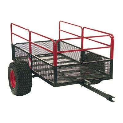 Yutrax TX158 Black/Red Trail Warrior X2 ATV Utility Trailer
