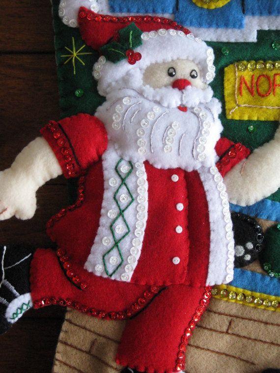 Bucilla Bowling Santa Completed