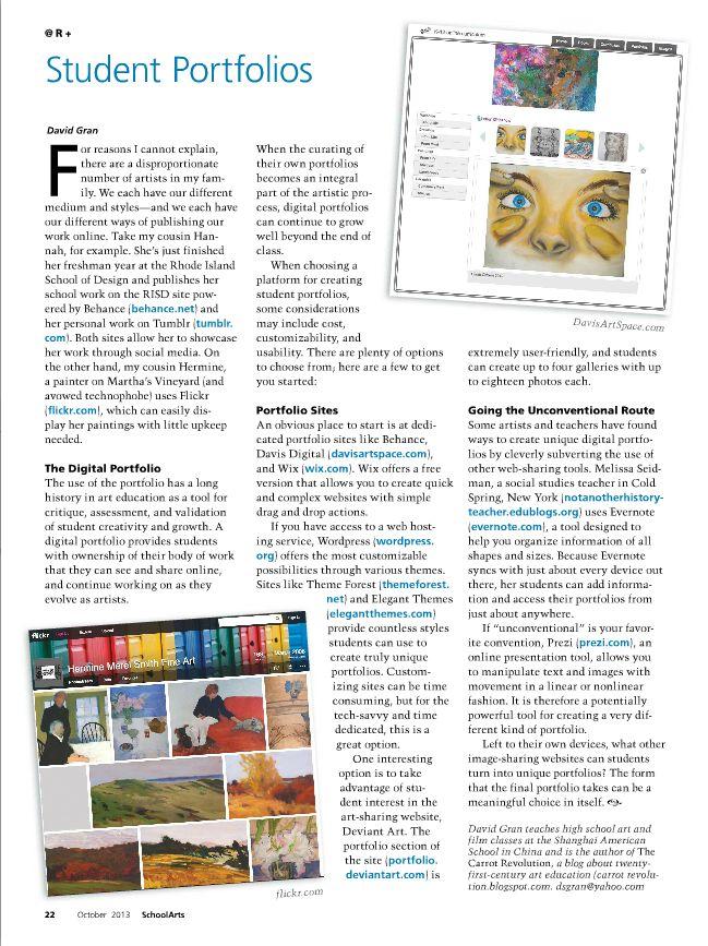 Student Portfolios #ArtEd #ArtEducation #DigitalPortfolio
