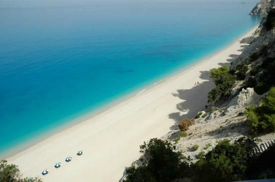 Egremni Beach on the island of Lefkada, Greece