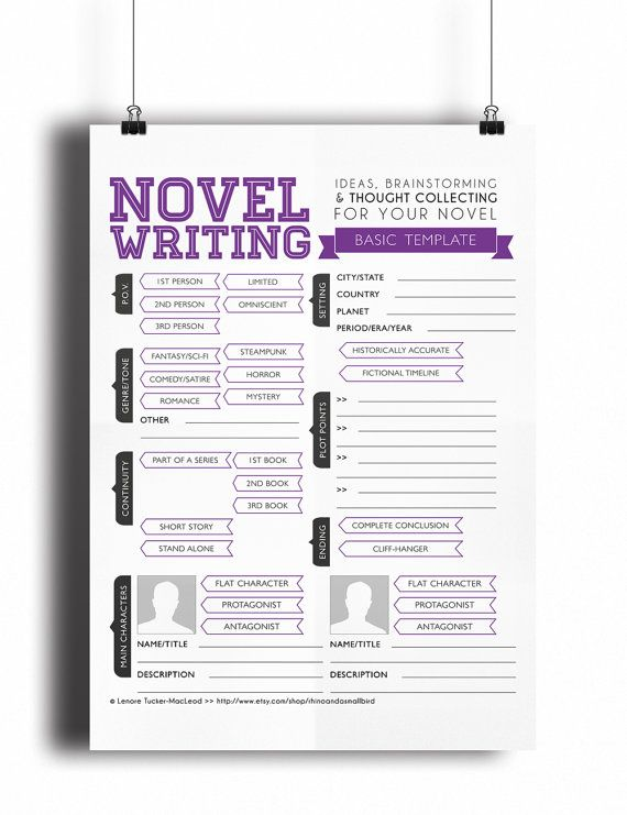 writing a novel template