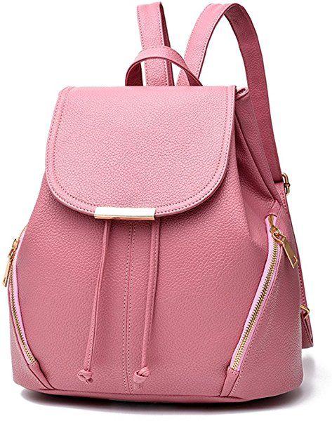 Amazon.com  Z-joyee Casual Purse Fashion School Leather Backpack Shoulder  Bag Mini Backpack for Women   Girls 5d902bf648af1