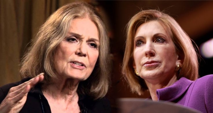 """Gloria Steinem Blasts Carly Fiorina: """"Trump's greatest damage to women was to raise sympathy for Carly Fiorina by attacking her appearance. What she said about Planned Parenthood was a 100% lie — as fact-checkers have pointed out — and she accused Hillary Clinton of lying when she was in fact telling the truth. If you thought Republicans could find no woman more damaging to the diversity and needs of the female half of this country than Sarah Palin, take a good look at Carly Fiorina and what…"""