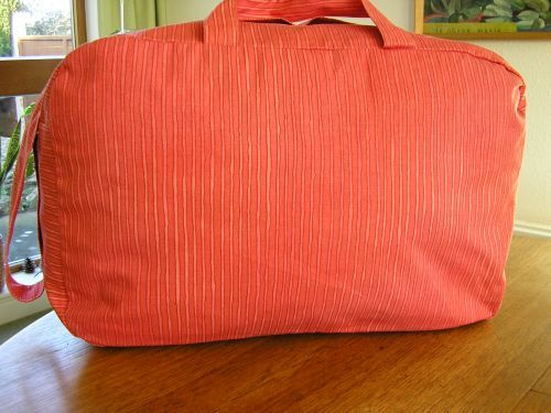 Red Stripes Handmade Large  Weekend Bag