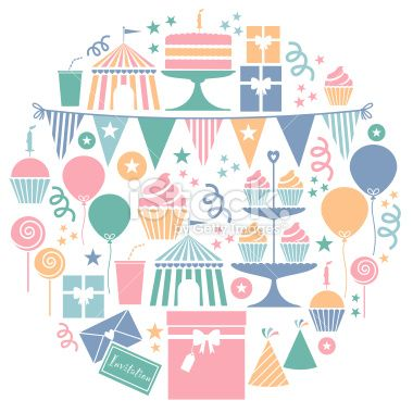 Party Icon Set Royalty Free Stock Vector Art Illustration