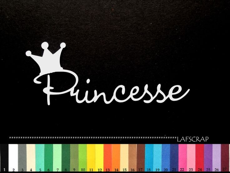 lot 2 découpes mot princesse scrapbooking embellissement album scrap die cut déco : Loisirs créatifs, scrapbooking par lafscrap