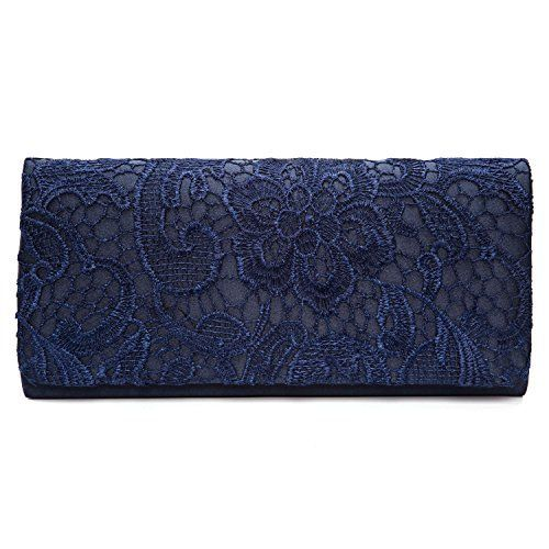 New Trending Clutch Bags: Chichitop Womens Elegant Floral Lace Evening Party Clutch Bags Bridal Wedding Purse Handbag,Navy Blue. Chichitop Women's Elegant Floral Lace Evening Party Clutch Bags Bridal Wedding Purse Handbag,Navy Blue   Special Offer: $13.99      388 Reviews Features:Size: 10.43″(L) * 1.77″(W) * 4.72″(H)Material: soft satin laceClosure type: magnetic closureOccasions:...
