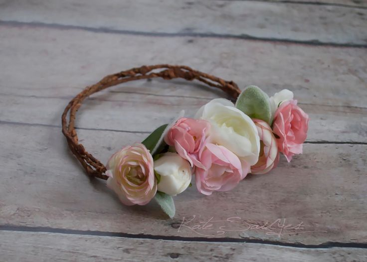 Rustic Flower Girl Crown - Wedding Crown by KateSaidYes on Etsy https://www.etsy.com/listing/266725840/rustic-flower-girl-crown-wedding-crown