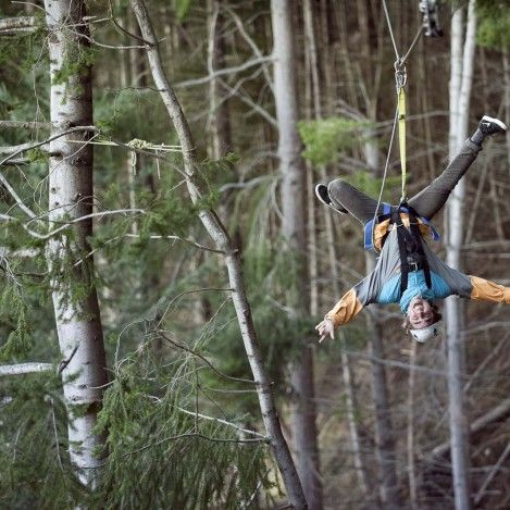 Fly through the canopy of Ben Lomond Forest with Ziptrek Ecotours Queenstown. Backwards, upside down or take it easy - the choice is yours! #UltimateQueenstown