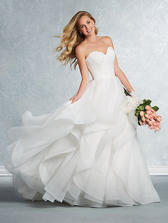Alfred Angelo Style 2609: strapless tulle ball gown wedding dress