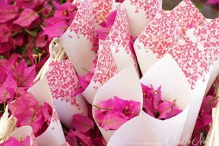 bougainvillea wedding - flower toss