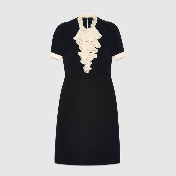 Viscose jersey ruffle dress (Gucci)