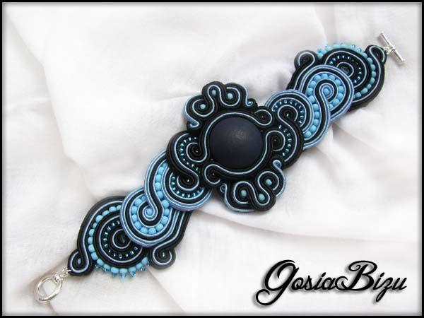 Bracelet+black+and+blue+soutache+by+GosiaBizu.deviantart.com+on+@deviantART