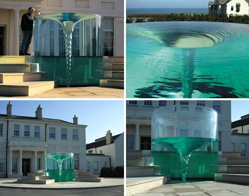 Vortex Fountain Is Perfect For Those Who've Always Wanted A Giant Toilet In Their Front Yard