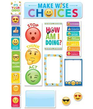 Emoji Fun Behavior Clip Chart Mini Bulletin Board