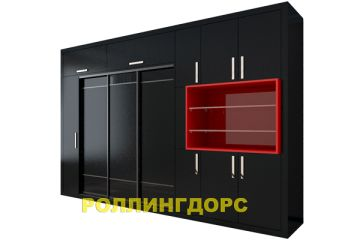 Встраиваемый шкаф с распашными дверями - черного цвета! кто решится?