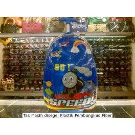 Tas Sekolah Anak Trolley Roda  Import TK SD Fiber Thomas