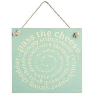 Zed & Co Wooden Sign 'Cheese' - Amour Decor - 1