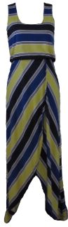 Striped maxi with high low hem makes this dress perfect for the beach!