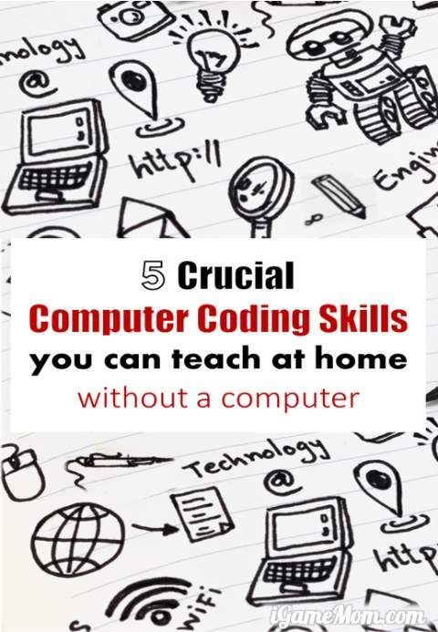 The most crucial computer coding skills are not writing codes. Insight and suggestions from a programmer and a mom on what are more important skills than actually writing code, and activity ideas for teaching these skills to kids as young as preschool, at home, with no need for computers. Plus a free coding game to print out too.