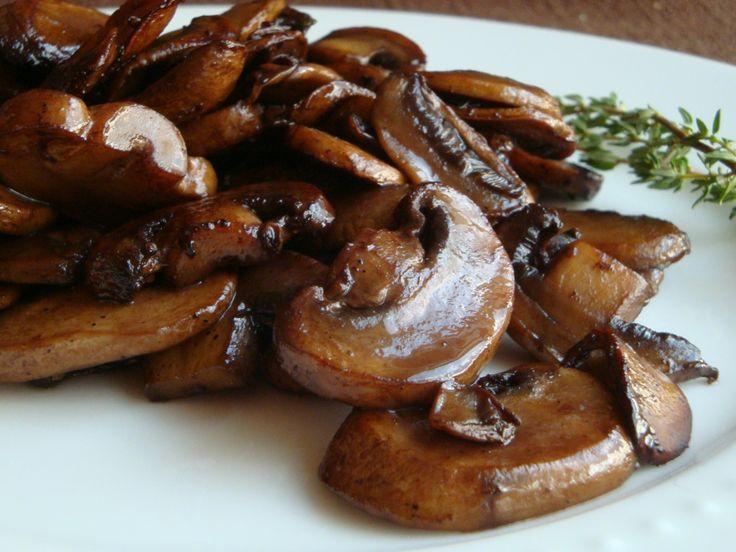 Wine or Broth Glazed Mushrooms and Dry Saute Tutorial