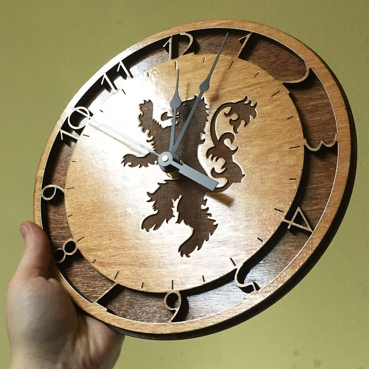Game of Thrones Laser-Cut Wall Clocks - Created by Athey MoravetzAvailable for sale only at his Etsy Shop.