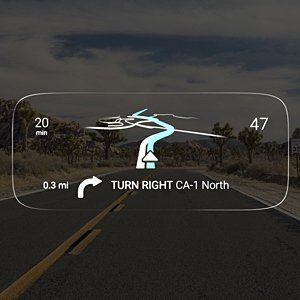 Navdy – Augmented Reality GPS Navigation System with Heads Up Display - Stay Connected with Maps, Calls, Texts & Music Projected Through Your Windshield. #gadgets #driving #car