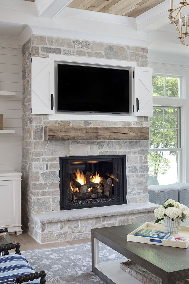 Stone Fireplace With Natural Stone Hearth Bluestone Natural Stone
