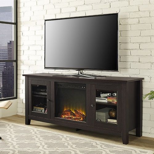 """Media Center With Fireplace Portable TV Stand Electric Fake Faux Flat Screen 60"""" #Unbranded #Nautical"""