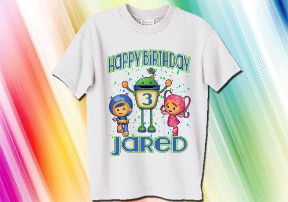 Team Umizoomi Boys Personalized Birthday Shirt Geo, Milli and Bot on Etsy, $11.95