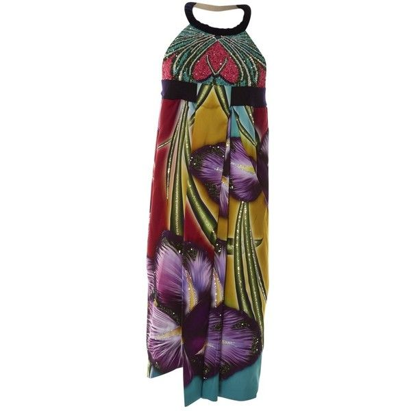 Pre-owned Manish Arora Silk Mid-Length Dress ($894) ❤ liked on Polyvore featuring dresses, multicolour, women clothing dresses, multicolored dress, mid length cocktail dresses, multi-color dresses, pre owned dresses and preowned dresses