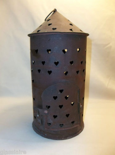 Pin by glassiaire vintage on vintage home pinterest - Punched metal candle holder ...